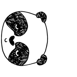 panda // one large panda head per yard