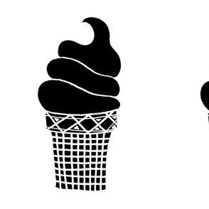 ice cream cone // black and white nursery baby cut and sew