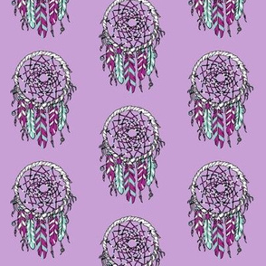 dreamcatcher // southwest baby pastel purple feathers