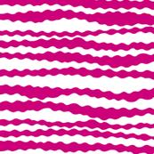 Pink wavy stripes on white