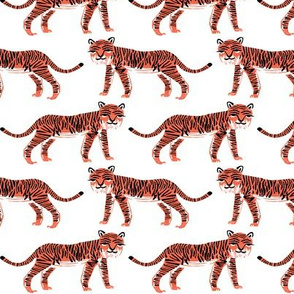 tiger // coral safari tiger collection coordinate print