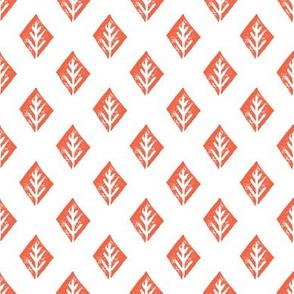 diamond // coral white safari tiger coordinate print