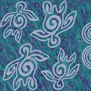 NEW-Spirit-of-the-Sea12x7inchFULLSIZE-SPIRALS-AND-SEATURTLES150-CALblgrey-mauveforestgreenbatik-FULLSIZE