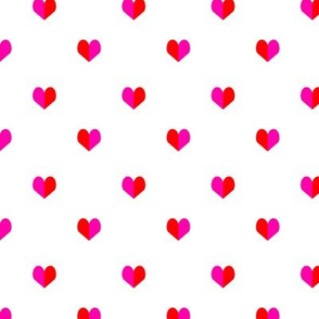 mini pink and red valentines heart for love girls