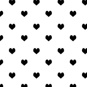 mini black and white heart simple minimal cool scandinavian illustration pattern