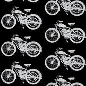 "Vintage Motorcycles in Grey & Black (4"")"