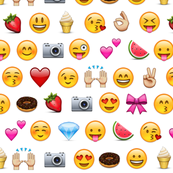 emoji love heart eyes bows camera donut emojis