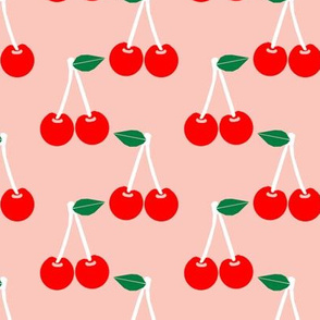 cherries blush summer fruit tropical summer juicy pattern