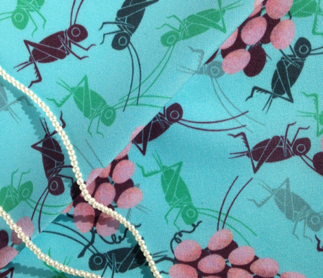 Crickets and Grapes (Blue)