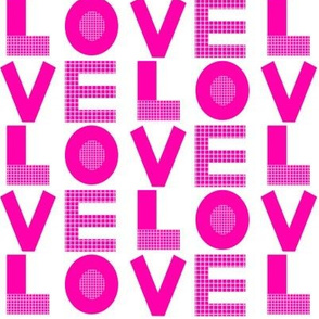 love magenta neon pink bright valentines typography letters