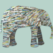 Earthy Elephant Collage