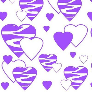 Purple Zebra Heart Animal Print