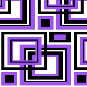 Purple Square Geometric Design