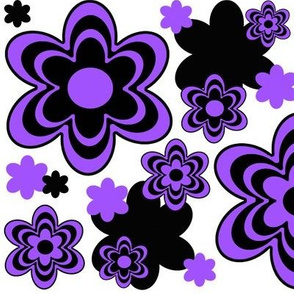 Purple Floral Flower Abstract Pattern
