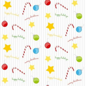 Candy Canes, Decorations & Stars