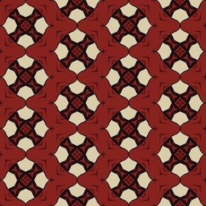 Crosses in Dark Red with White
