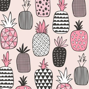 Pineapple Geometric on Pink