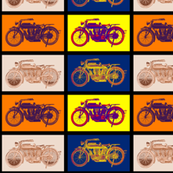 "Vintage Motorbikes Combined (6"")"