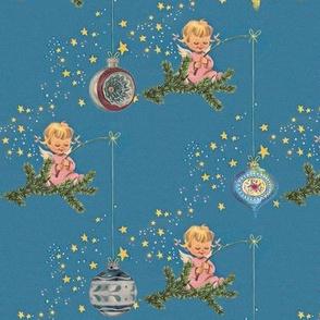 Angels and Ornaments - A retro Chritmas design