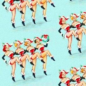 Christmas pin-ups