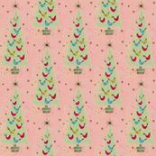 Pink and Pale Green Christmas Tree