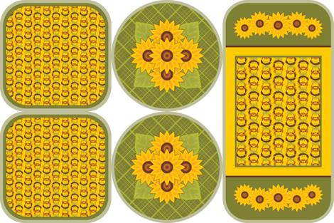 Golden Sunflowers Trivets