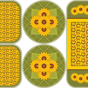 Golden Sunflowers Trivets