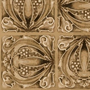 Sepia Toned Art Nouveau Tiles