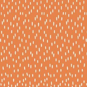 Wibbly Wobbly bits dark orange