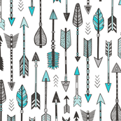 Arrows in Aqua Blue
