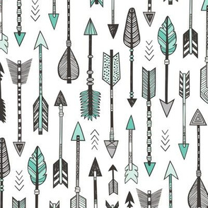 Arrows in Mint Green