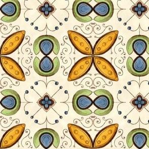 Delicate Art Nouveau Floral