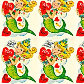Mermaid Valentine Panel