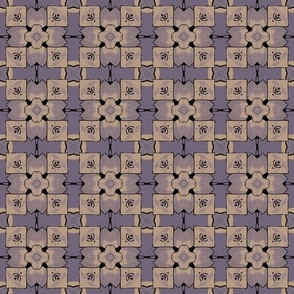 Unusual Purple Floral Geometric
