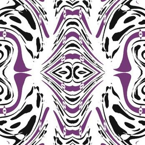 Swirly Purple, White and Black Maelstrom