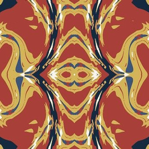 Modern Abstract in Red, Yellow and Blue