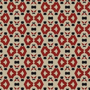 Abstract in Red, Black and Gray Design 1