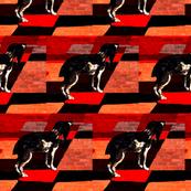 puppy plaid-ed