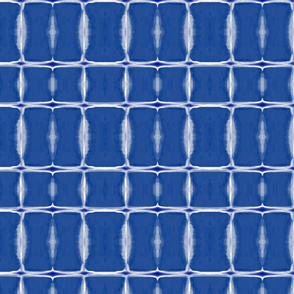 Indigo Feathers Striped