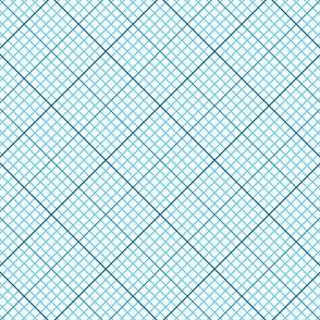 diagonal graph : azure blue