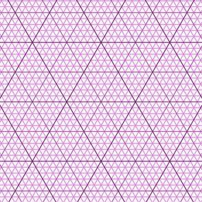 triangle graph : magenta purple