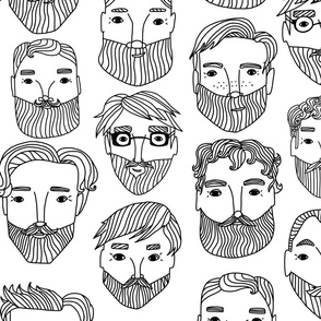 Bearded Men Pattern