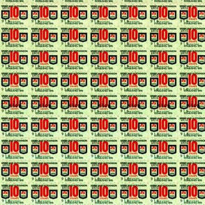 Dean's S&H Green Stamps ~ Sheet of 10s
