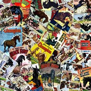 vintage comic book horses