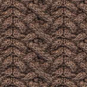 Brown Haka Cable Knit