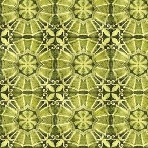 Antique Green Tile Design