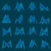 Geo Abstract Knit (BlueGreen coordinate)