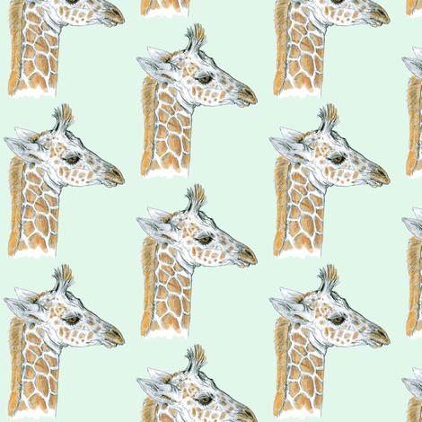 Custom Baby Giraffe on Grayed Mint