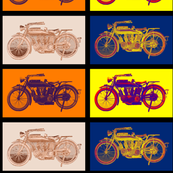 "Vintage Motorcycles Combined (4"")"