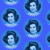 Ann Miller's Hair - Blue